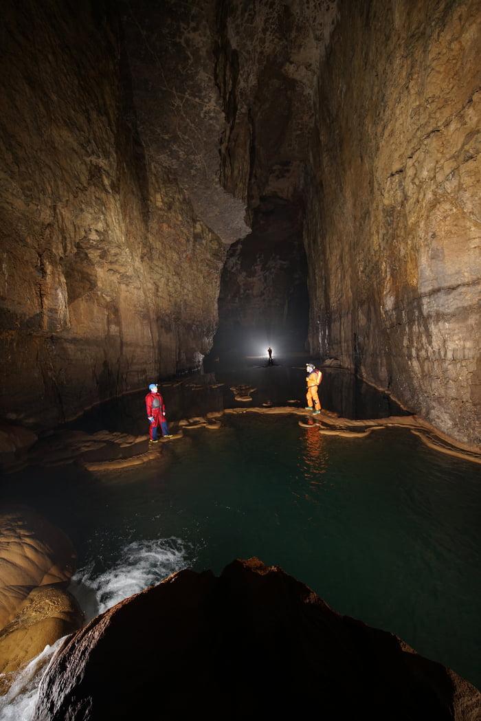 World's longest sandstone cave system with a length of 24,853 m - Krem Puri, Meghalaya
