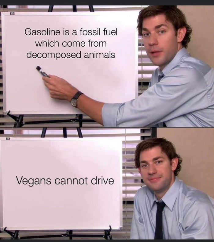 Gasoline is a fossil fuel which come from decomposed animals