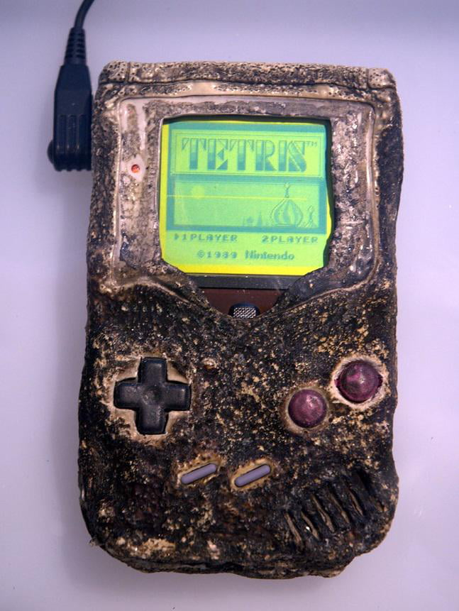 This unstoppable Game Boy survived a bombing during the Gulf War and is still running Tetris in the Nintendo World Store in NYC.