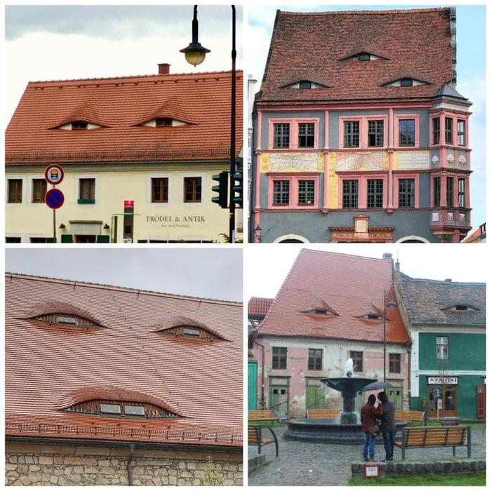 Old roofs in Sibiu, Romania