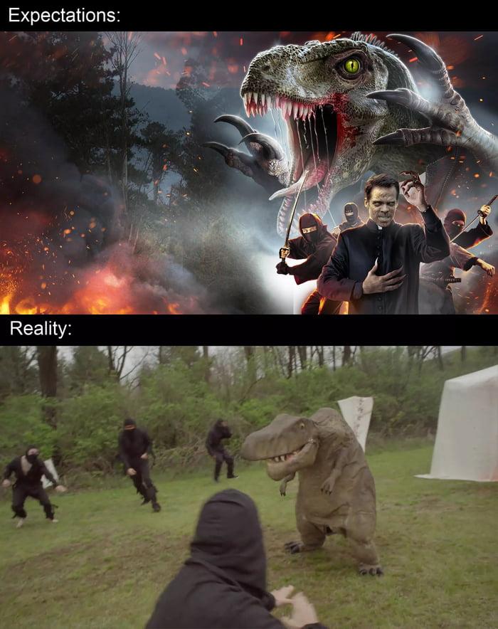 "Expectations:     Reality:  ""T 5-"" ""F""'EEWW'WW"