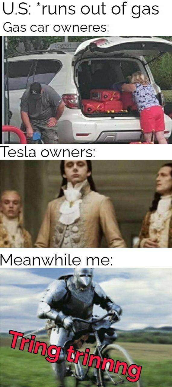 US: *runs out of gas Gas car OWHGI'GSI