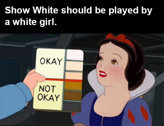 Show White should be played by a white girl.