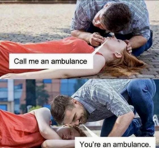 , ' _. You're an ambulance. .