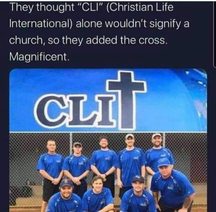 """They thought """"CLI"""" (Christian Life International) alone wouldn't signify a church, so they added the cross. Magnificent."""