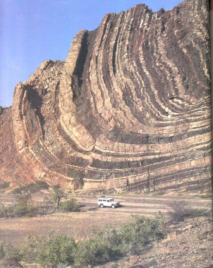 Plate Tectonic folds in the Lower Ugab Valley