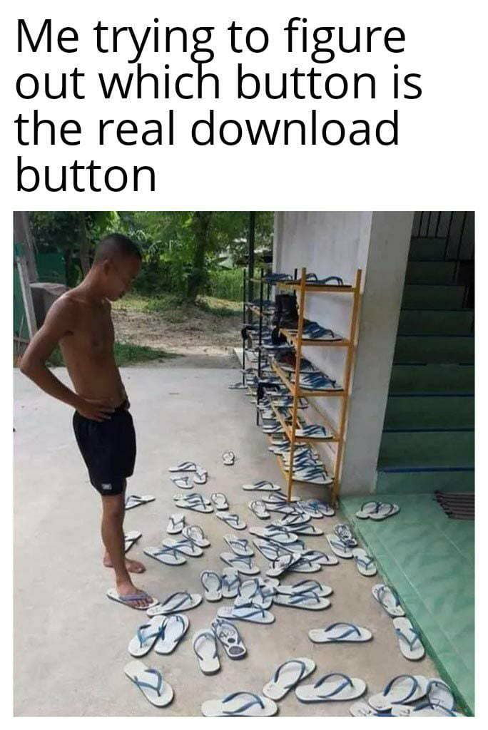 Me tryin to figure out whic button is the real download