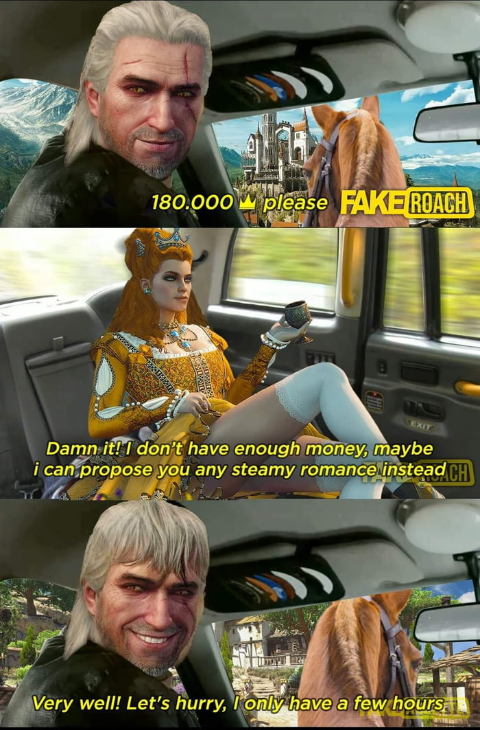 The forbidden romance Source: The Witcher Ciriposting