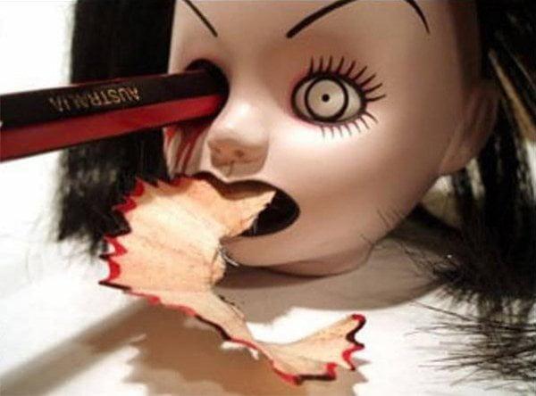 This Elegant ~yet~ Demonic Doll Head Pencil Sharpener