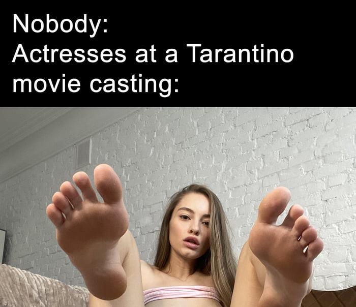 Nobody:  Actresses at a Tarantino movie casting: