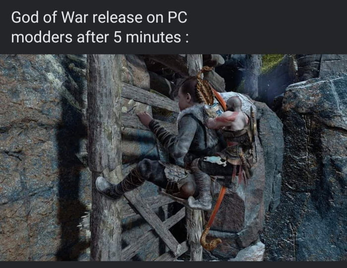 God of War release on PC modders after 5 minutes :
