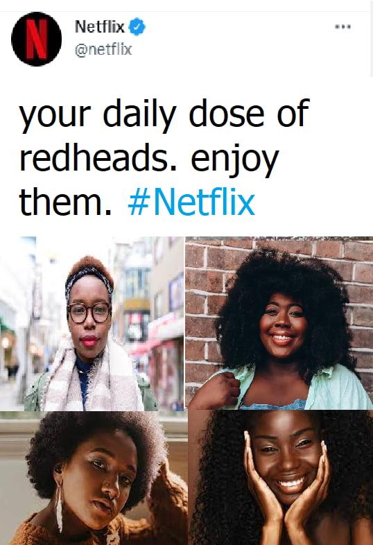Netflixfl @Inetfl'zx  your daily dose of redheads. enjoy them. #Netflix
