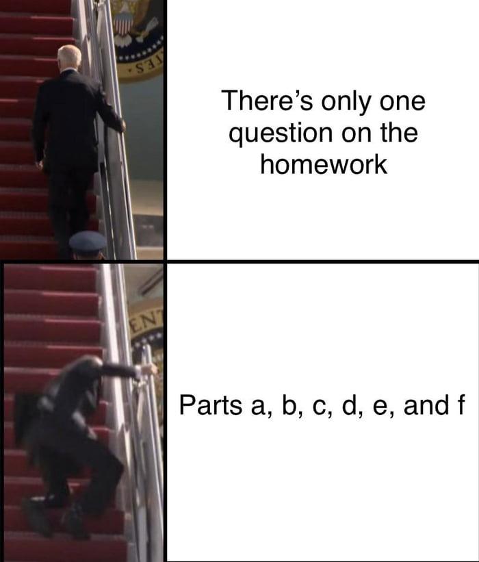 There's only one question on the homework  Parts a, b, c, d, e, andf