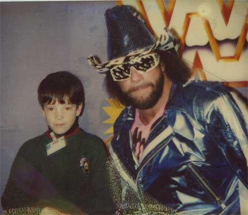 Me with the Macho Man Randy Savage, circa 1991