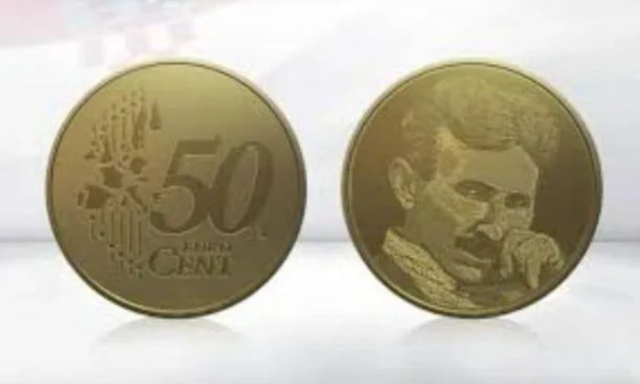 The new 50ct coin of Croatia will show a pic of the genius Serbian scientist Nikola Tesla