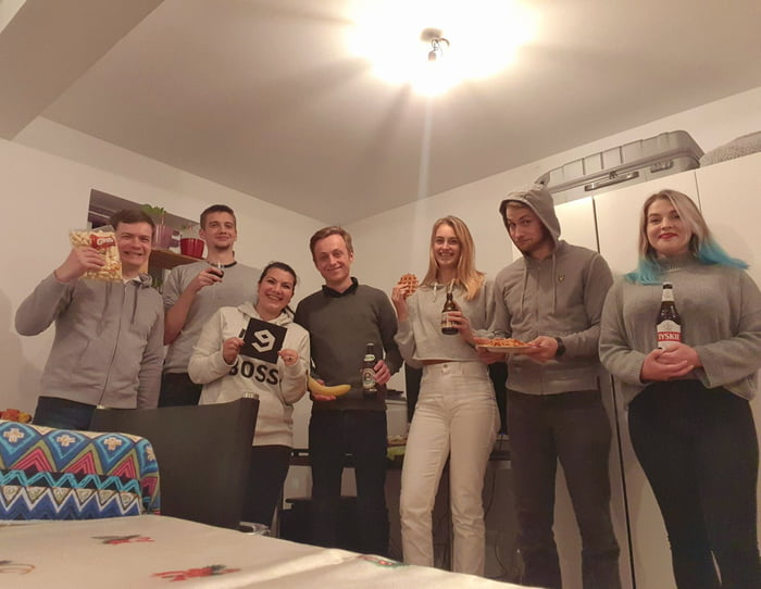My first 9gag meet-up ! I hosted our first party and it was awesome . 9gaggers unite ! (Poland, Netherlands, Romania, Germany and France)