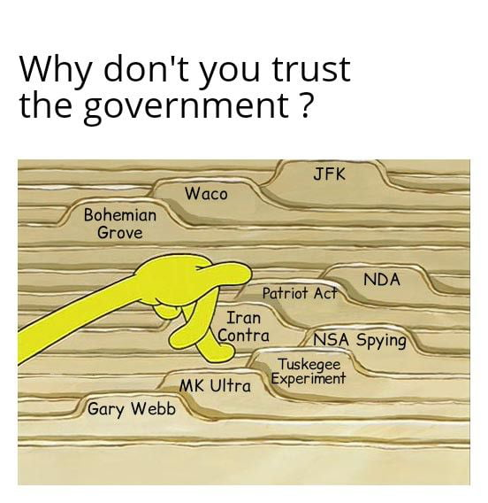 Why don't you trust the government ?