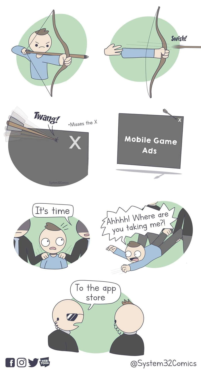 Mobile Game Ads  @Sys'rem3ZComics
