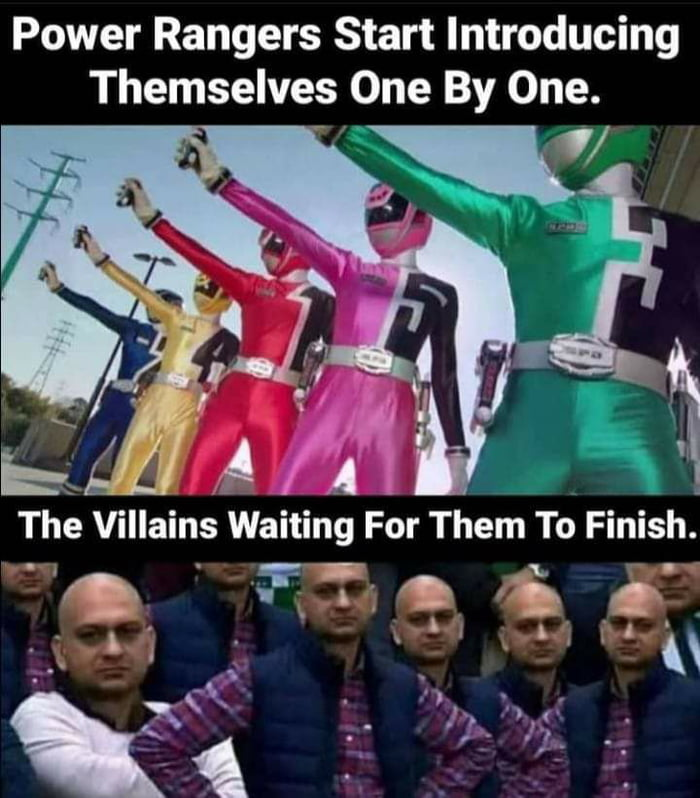 """Power Rangers Start Introducing Themselves One By One.     The Villains Waiting For Them To Finish. 7! ~ '7' t 1 '9: r!"""" . . i . A j I '  '1 ;. ~ ' Q  'r .5"""" 1;; """"W:"""