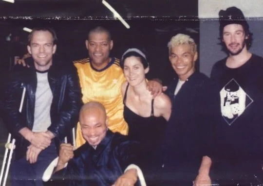 Keanu Reeves and the cast of 'The Matrix' in 1999