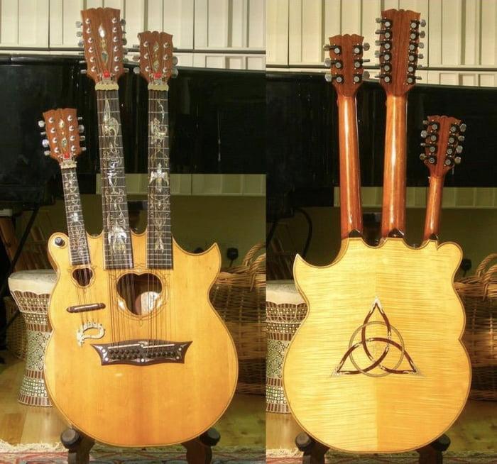 Triple-necked acoustic used by Led Zeppelin's John Paul Jones