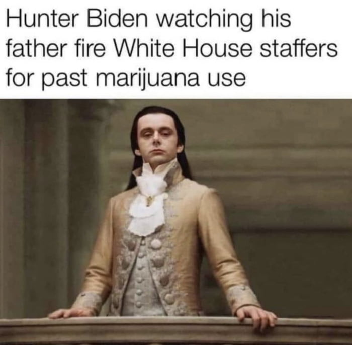 Hunter Biden watching his father fire White House staffers for past marijuana use