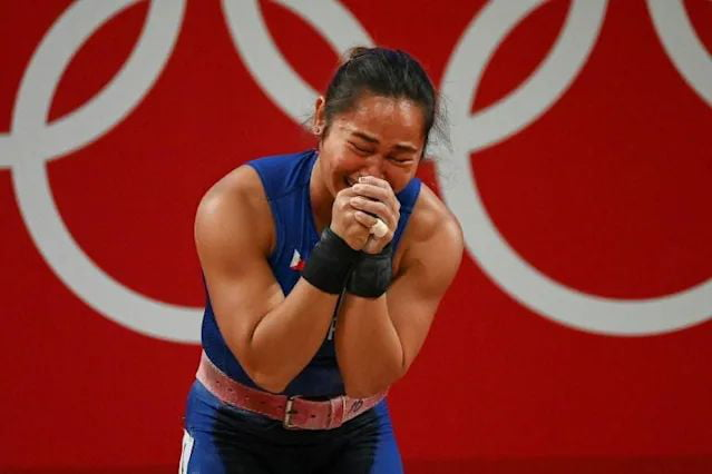 Congratulations to the Phillipines Hidilyn Diaz, winning the first ever gold medal for her country with an Olympic World record AND beat China