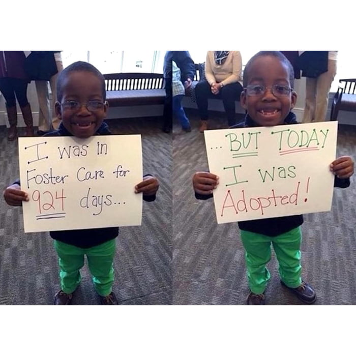Little boy gets adopted after nearly 3 years