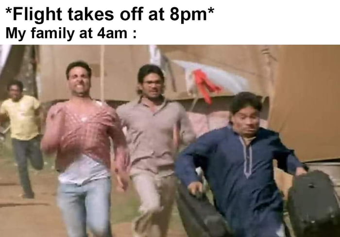 *Flight takes off at 8pm* My family at 4am :