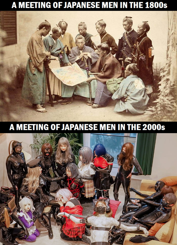 A MEEI'ING 0F JAPANESE MEN IN THE 18005