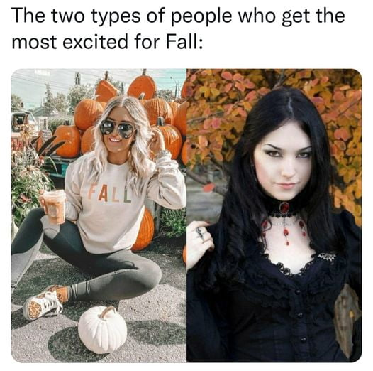 The two types of people who get the most excited for Fall: