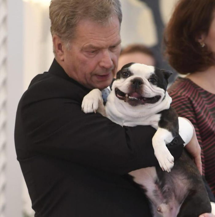 The president of Finland and his dog, Lennu