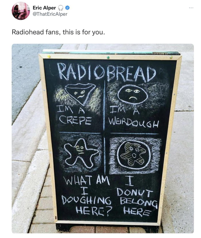 "' Eric Alper 0 @HmtEHcAmcr  Radiohead fans. this is foryou,  ' 'DWGHINQ 51:50]; I , HENLK BER: """