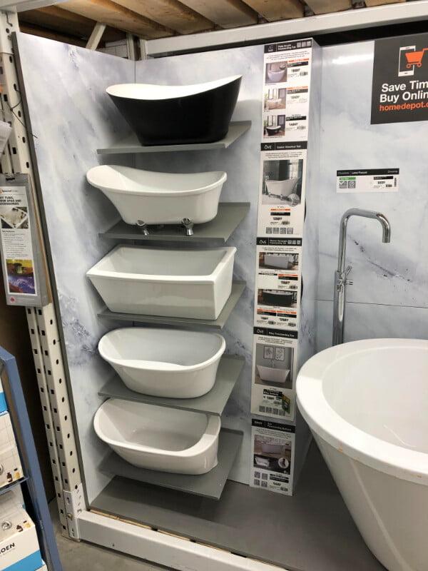 These mini display bathtubs