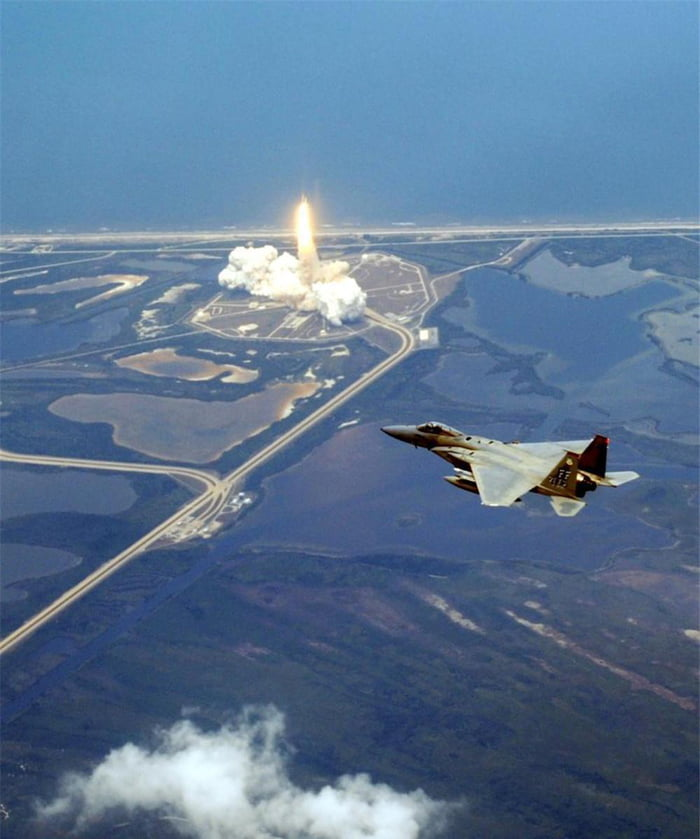 F-15 supervised launch of the space shuttle