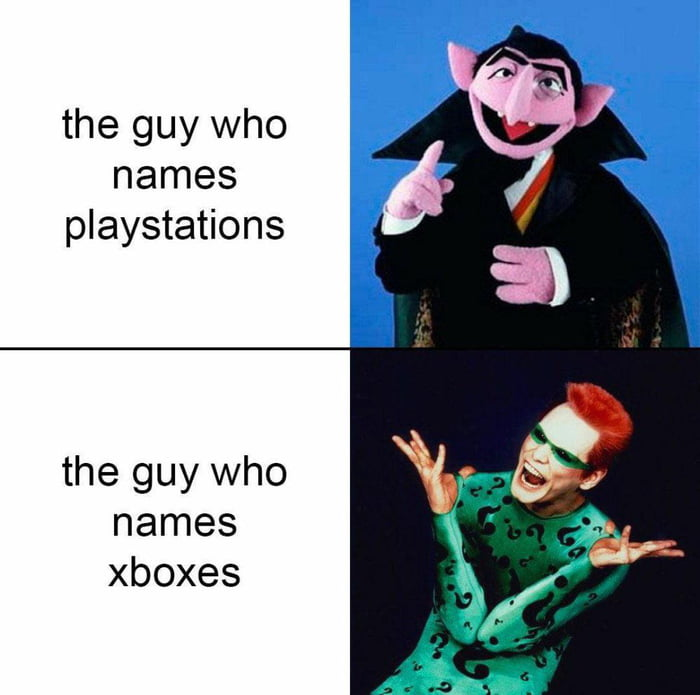 meguywho names playstations  the guy who names xboxes
