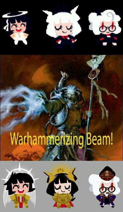 Fun fact creater of helltaker vanripper is also a warhammer 40k fan