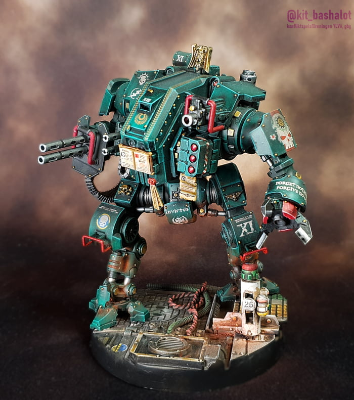 Kitbashed Nemesis Chapter Invictor Tactical Warsuit