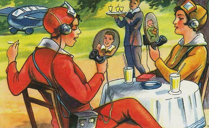 An Artists Depiction Of The Future, Painted In 1930