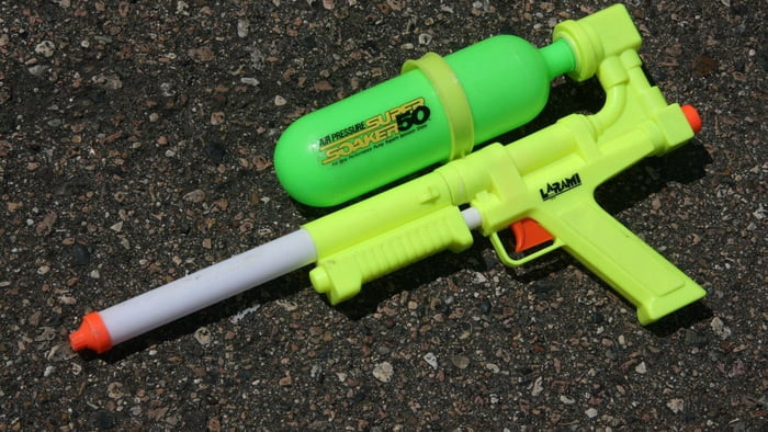 If you ever drank the water from this supersoaker, you're immune to covid